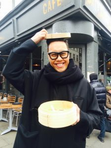 Gok doing his taste test in London